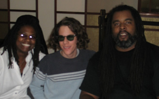 Conrad with Alvin Youngblood Hart & Ruthie Foster