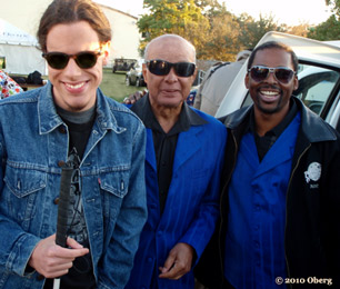Conrad Oberg with Jimmy Carter and Joey Williams of the Blind Boys of Alabama